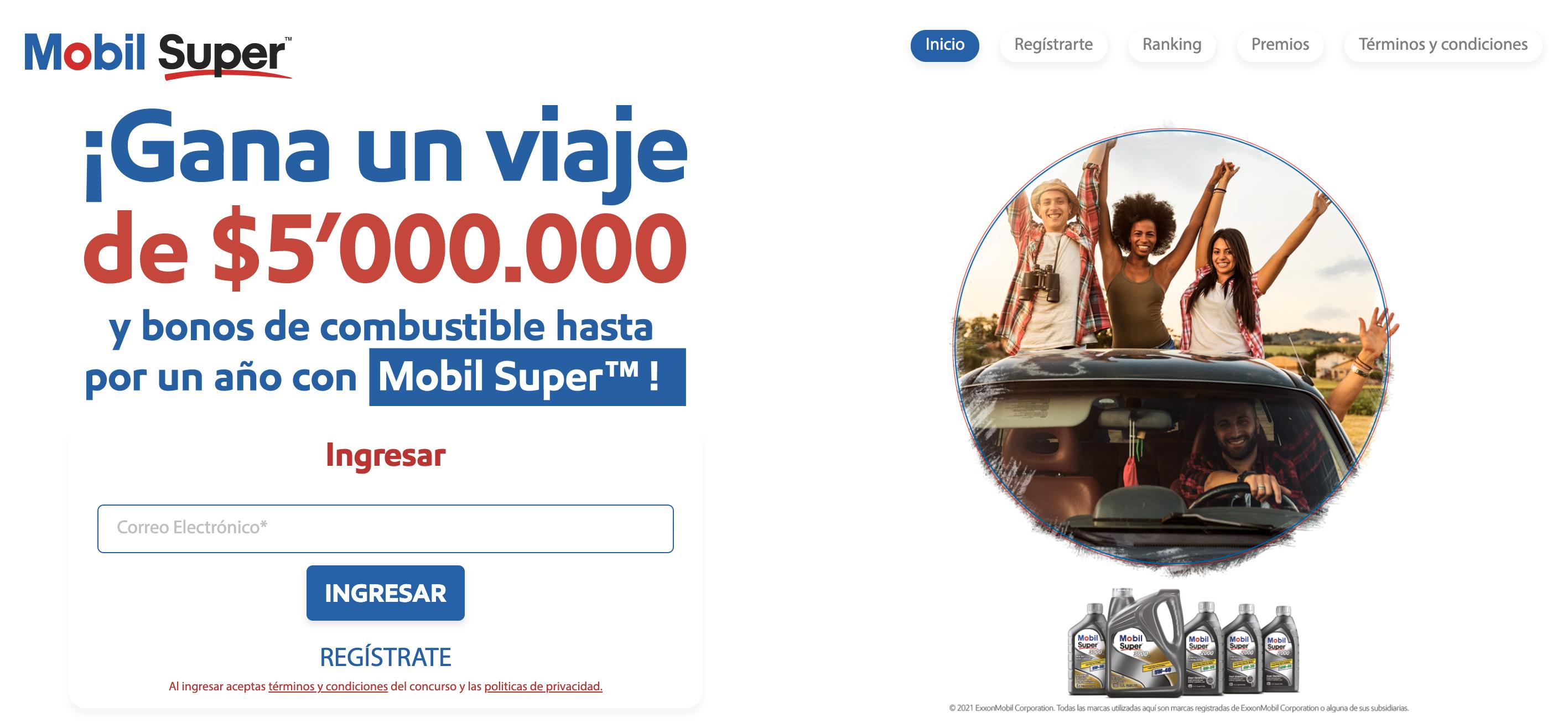 ¡Participa por un viaje, haciendo tu cambio de aceite con Mobil Super®!