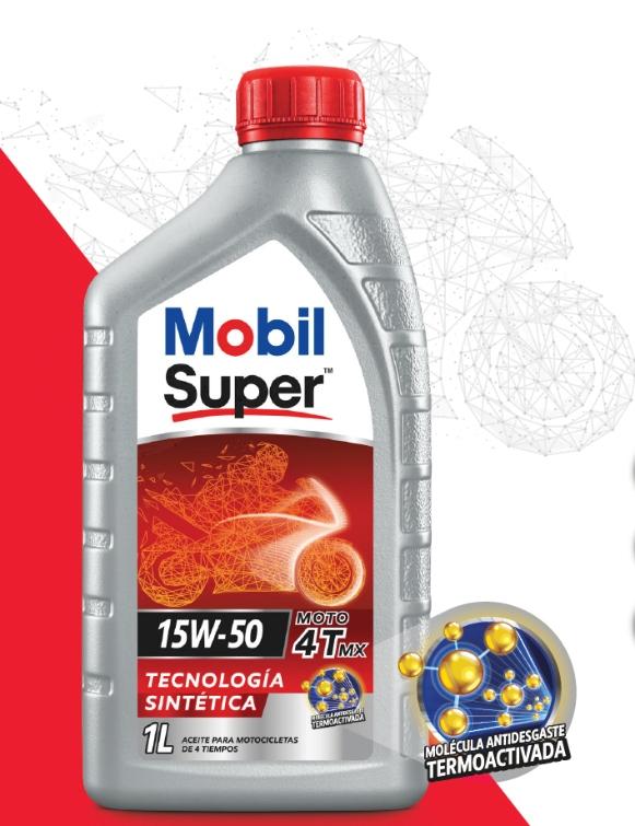 Mobil Super™ 4T MX 15W-50, lubricantes para motos, Lubesol